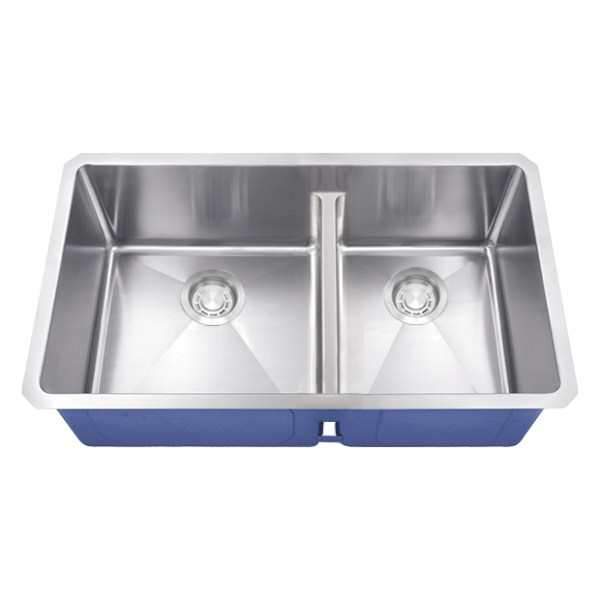 Dakota Signature Series 60/40 Micro Radius Low Divide Undermount 16 Gauge Stainless Steel Sink