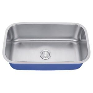 "Dakota Signature Series 30"" x 18"" Standard Radius Undermount 16 Gauge Stainless Steel Sink"