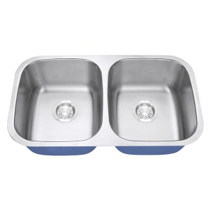 Dakota Signature Series 50/50 Standard Radius Undermount 16 Gauge Stainless Steel Sink