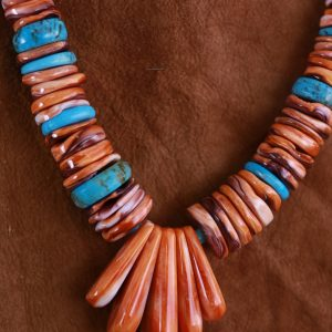 Spiny Oyster Heishi Necklace