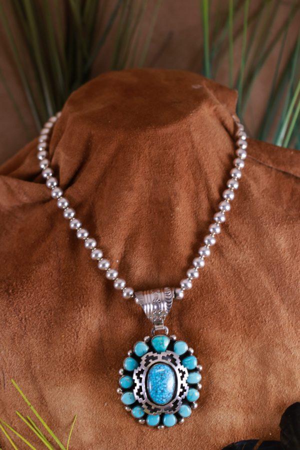 Kingman Spiderweb Necklace