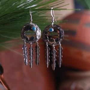 Buffalo Dream Catcher Earrings