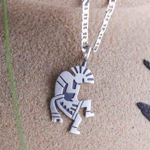 Sterling Hopi Kachina Necklace