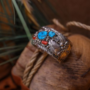 Sleeping Beauty and Coral Men's Cuff