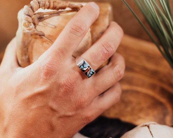 Zuni Inlay Ring Sz. 14