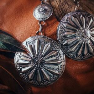 Tim Yazzie Sterling Silver Earrings