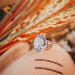 White Buffalo Ring Sz. 5.5