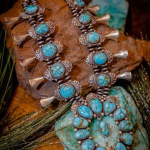 Turquoise Mountain Squash Blossom Set