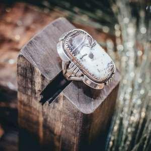 White Buffalo Ring Sz. 5