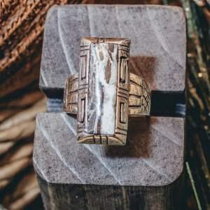 White Buffalo Ring Size 10