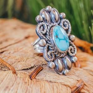 Turquoise Mountain Ring Sz. 7.5