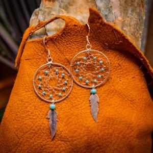 Turquoise Dreamcatcher Earrings