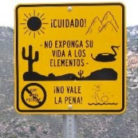 his sign is found near Hauser Canyon, in California, about 15 miles north of the U.S.-Mexico Border. (Source: Wikimedia Commons)
