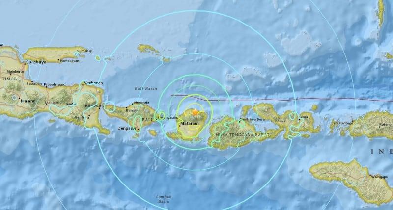 Gempa Bumi di Lombok, NTB