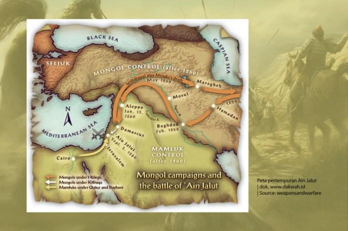 Peta pertempuran Ain Jalut-dakwah.id