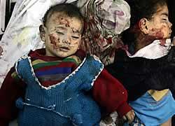 Anak-anak Palestina korban pembantaian Israel