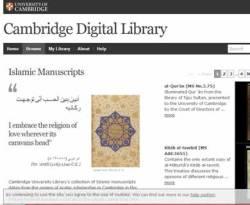 Cuplikan situs Cambridge Digital Library. (cudl.lib.cam.ac.uk)