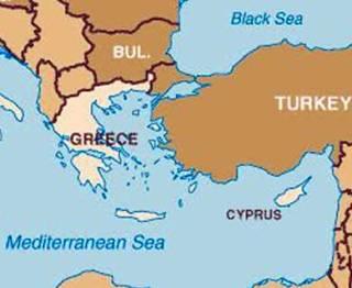 Ilustrasi - Peta Turki, Yunani, dan Siprus. (inet)