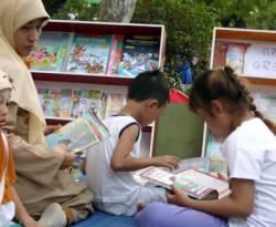 Taman baca anak-anak PKS Gresik. (ist)