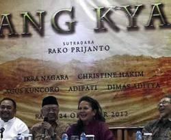 Konfrensi pers dan syukuran film Sang Kyai beberapa waktu lalu. (ANTARA/Teresia May/rj)