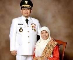 Gubernur Jawa Barat Ahmad Heryawan dan istri Netty Prasetiyani. (inet)