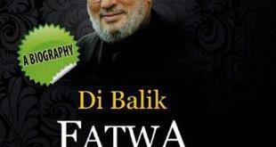 """Cover buku """"Di Balik Fatwa Kontroversi Yusuf Al-Qaradhawi""""."""