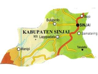 Ilustrasi - Peta Kabupatem Sinjai. (wikipedia)
