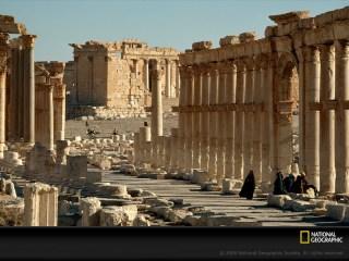 Salah satu sudut kota Palmyra sebelum konflik pecah