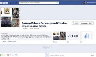 facebook polwan jilbab