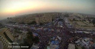Bundaran Rab'ah saat masih dipenuhi demonstaran dua bulan yang lalu (inet)