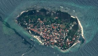 Ilustrasi - Pulau Untung Jawa. (Google Earth)