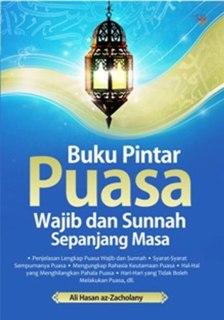 """Cover buku """"Buku Pintar Puasa Wajib dan Sunnah Sepanjang Masa""""."""