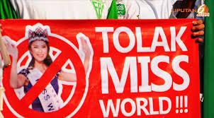 Aksi massa tolak Miss World (inet)