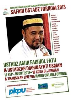 Poster Safari Ustadz FORKOM 2013. (ist)