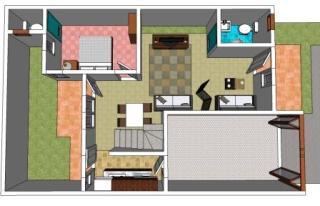 interior lantai 1