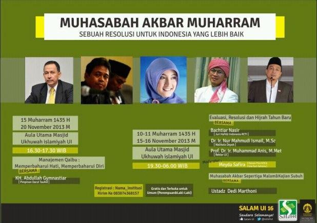 Muhasabah Akbar Muharram SALAM UI. (ist)