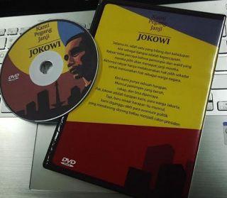 DVD Kaleng berjudul 'Kami Pegang Janji Jokowi'  (foto: detik.com)
