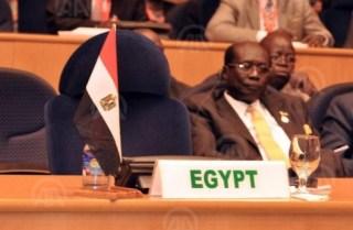 Kursi Mesir terlihat kosong dalam KTT Uni Afrika Rabu (29/1/2014) kemarin (rassd)