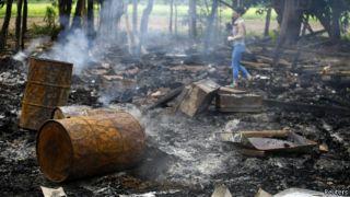 Sisa-sisa kekerasan terhadap Muslim Rohingya - Foto: BBC/Reuters