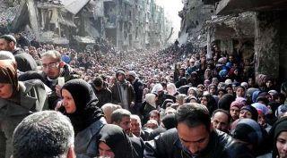 Antrian di Suriah. (Foto: liputan6.com)