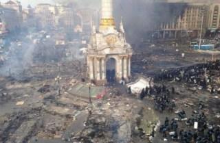 Suasana setelah pembubaran demonstran di Kiev (rassd)