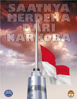 "Ilustrasi - Poster BNN ""Saatnya Bebas dari Narkoba"". (Foto: bnn.go.id)"
