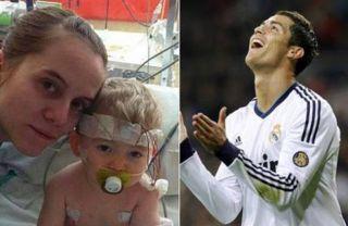 Cristian Ronaldo membantu pengobatan Erik Ortiz Cruz - Foto: latribuna.hn