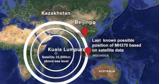 Zona pencarian pesawat Malaysia Airlines MH 370. (abcnews.go.com)