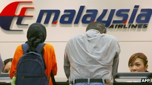 Counter Tiket Malaysia Airlines - Foto: bbc.co.uk