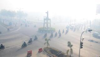 Kabut asap yang menyelimuti Kota Pekanbaru, Riau - Foto: pekanbaru.go.di