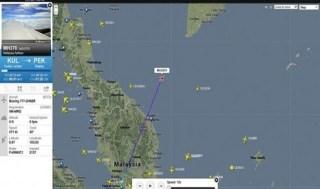 Lokasi kontak terakhir pesawat MH370 Malaysia Air - Foto: AP/Flightradar24.com