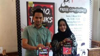 Teuku Wisnu dan Fahira Idris saat peluncuran buku  Gerakan Anti Miras, 'Say: No, Thanks', Senin (3/3) - Foto: tribunnews.com