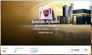 Cuplikan akun twitter @isalman_alodah, Sabtu (15/3/2014). (dakwatuna/hdn)