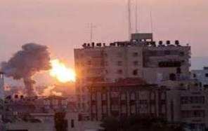Ledakan akibat serangan udara Israel (islammemo)